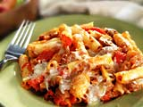 Baked Ziti with Italian Turkey Sausage and Sweet Peppers | Therapeutic ...